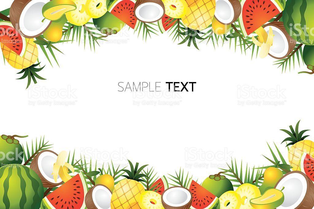 Fresh And Fruit Set Tropical Fruits Artsy Background Fruit
