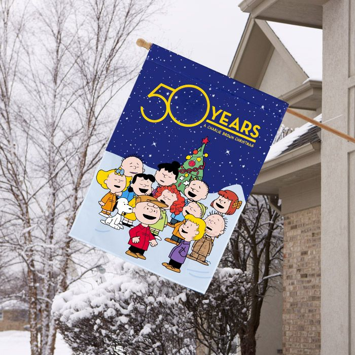 Charlie Brown Christmas 50th Anniversary Special Edition Flags! Shop Now.