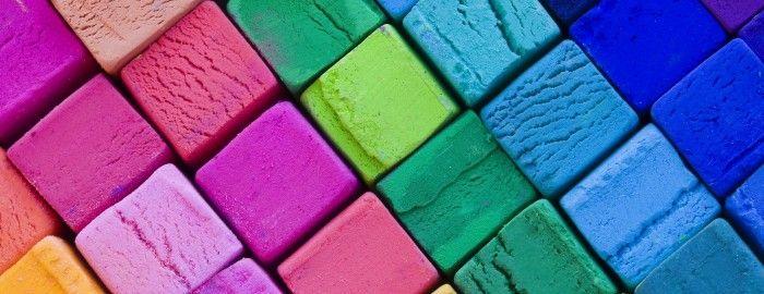 Bunte stoffe farben