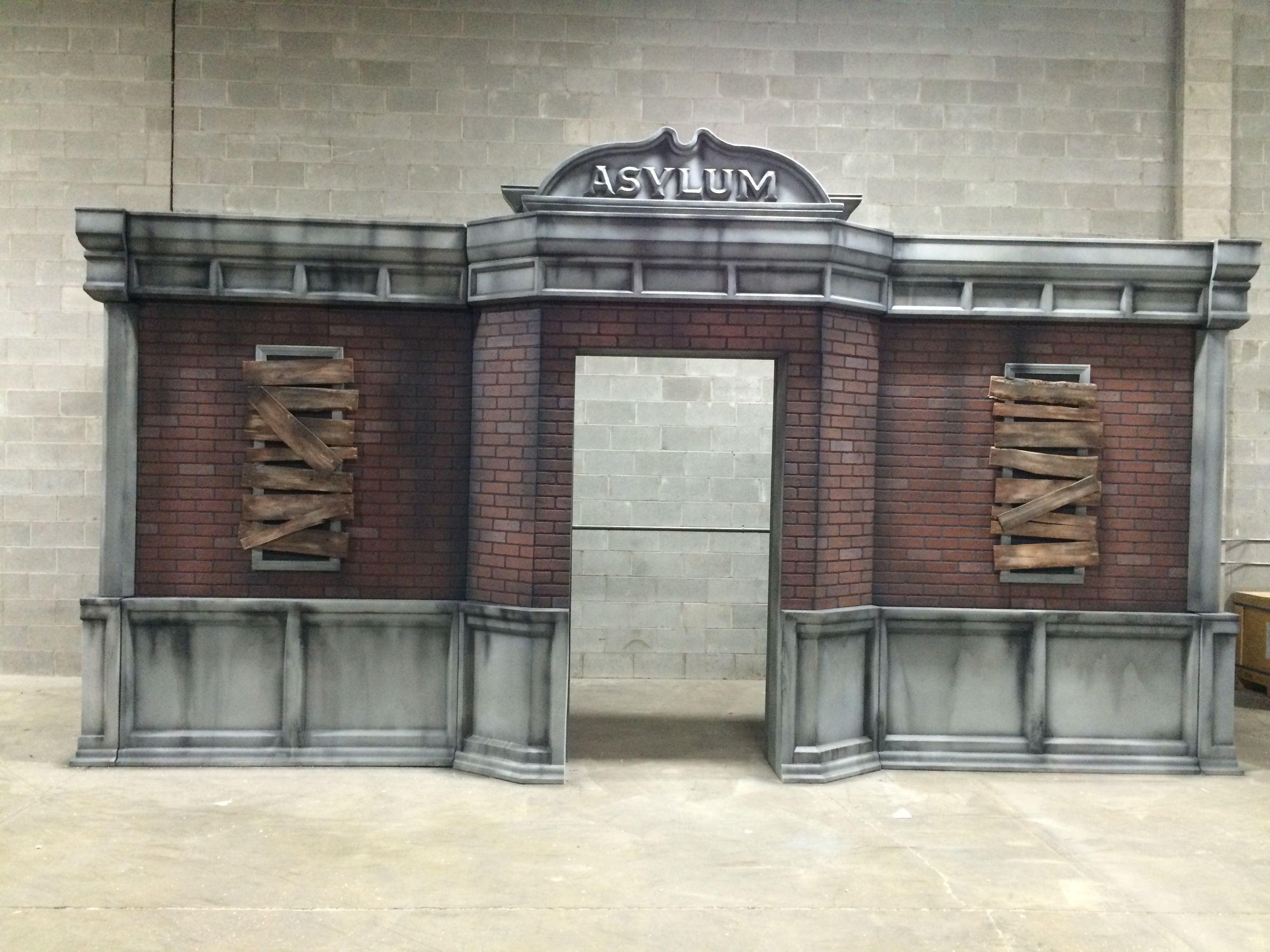 Asylum Haunted House Entry Facade Made By Legacy 3D Fx
