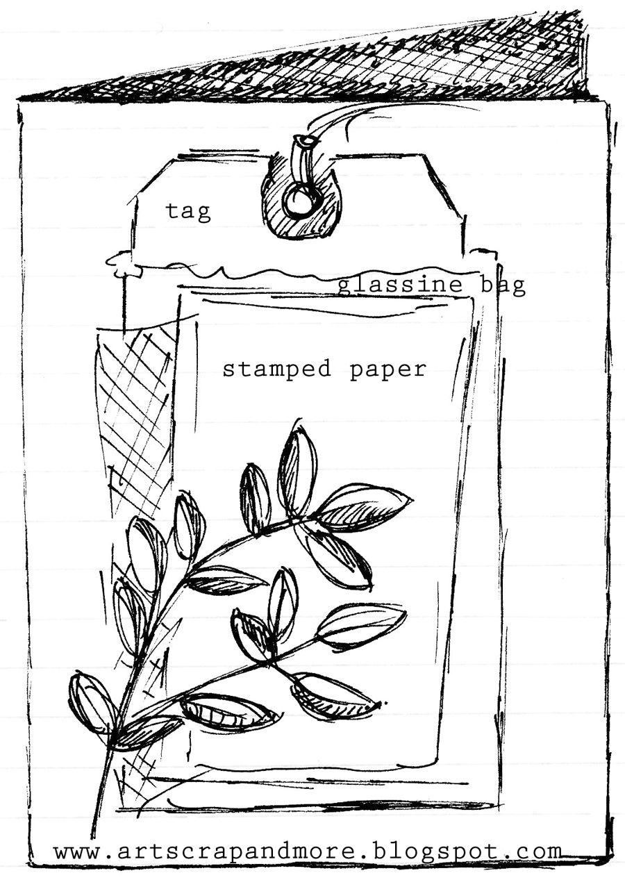 art scrap & more: a sketch & a card - Ombré technique + Gift Card