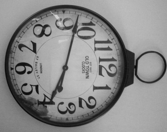Interesting clock found in the Bull Dog Room, Merillat Sports Center,  Adrian College.