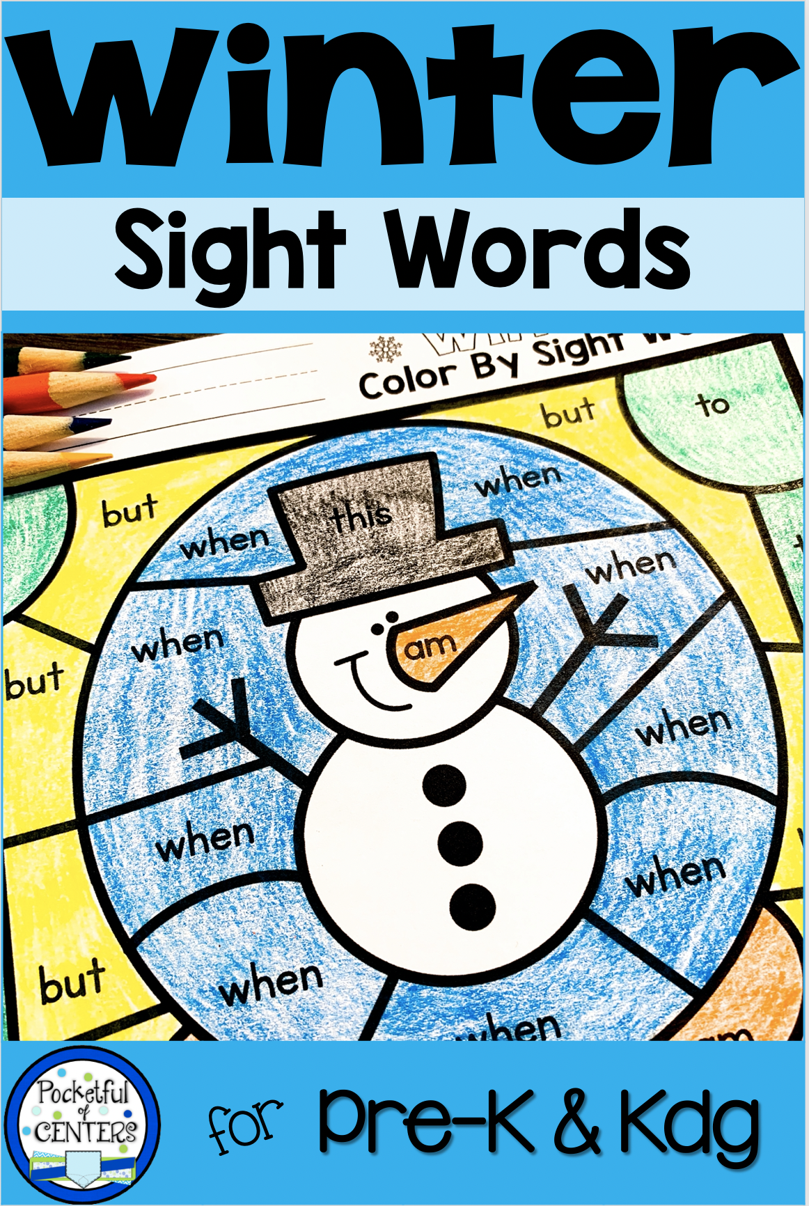 Winter Color By Code Sight Words In