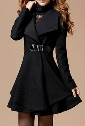 SE MIU Women/'s Vintage Double Breasted Long Sleeve Lapel Button Slim Trench Coat Jacket