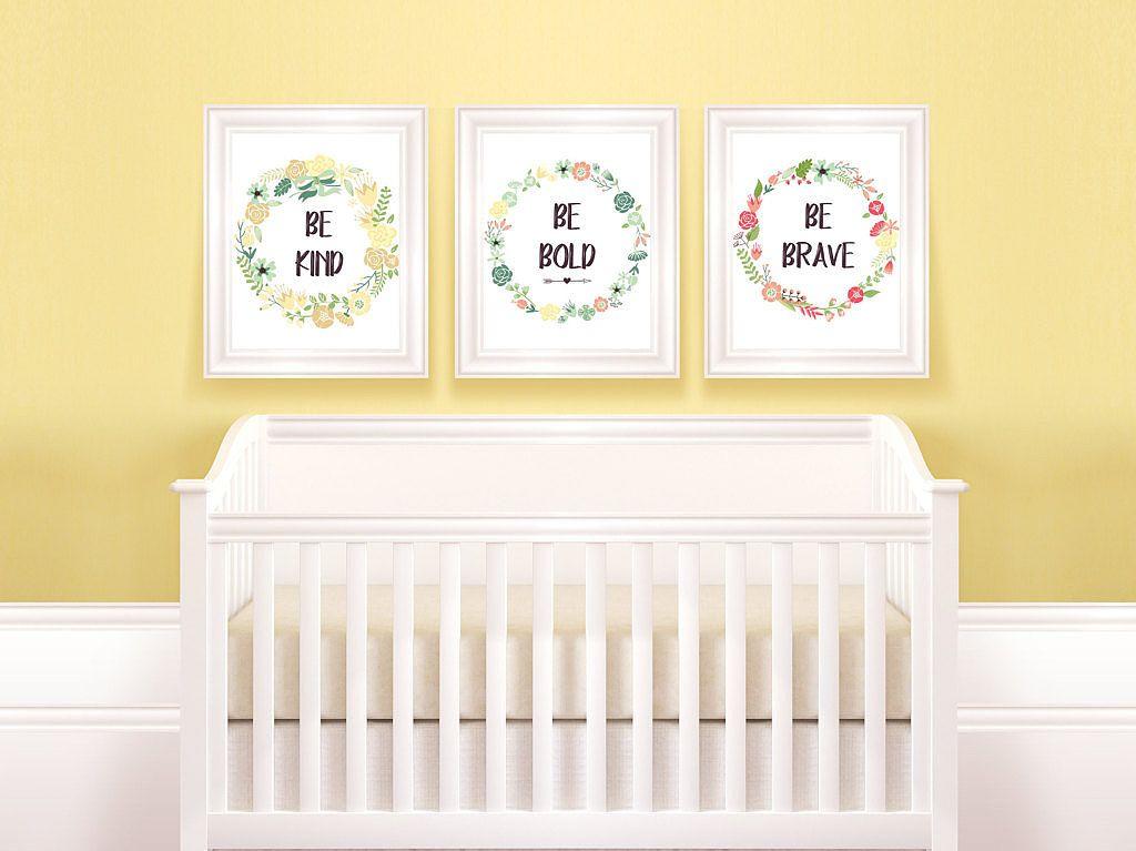 Contemporary Baby Girl Wall Art For Nursery Elaboration - Wall Art ...
