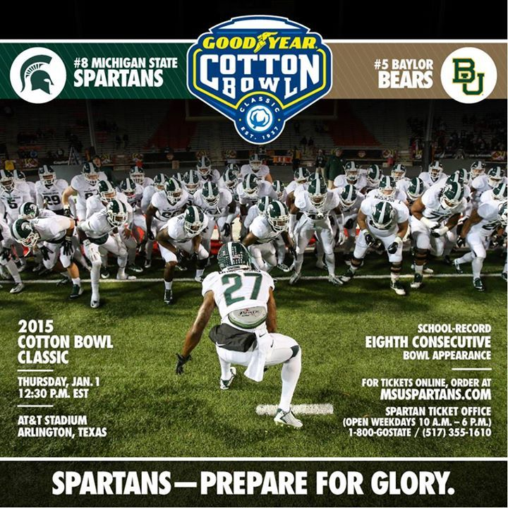 Michigan State Which Finished No 8 In The Final College Football Playoff Rankings Will Play Michigan State Spartans Michigan State University Michigan State