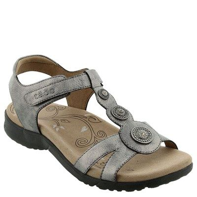 8cc04bad091c74 Taos Treasure 2 Leather Pewter Sandals - HappyFeet.com