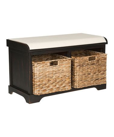 Loving this Brown Pine Kelsey Storage Bench on #zulily! #zulilyfinds