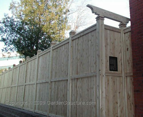 10 Foot Fence Design In White Cedar Lumber 8x8 Posts