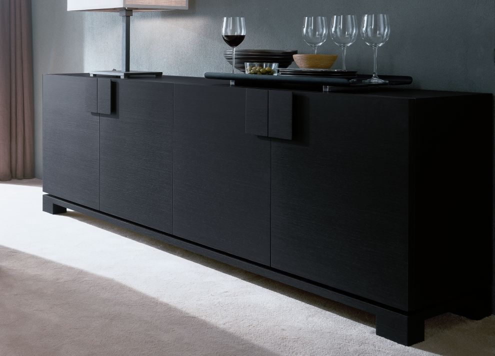 black contemporary credenza popular contemporary credenza designs all contemporary design. Black Bedroom Furniture Sets. Home Design Ideas