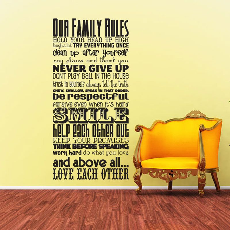 Luxury Our Family Rules Wall Art Image Collection - Wall Art Design ...