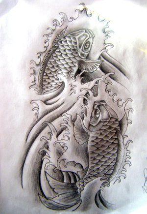 Koi Swimming Upstream : swimming, upstream, Japanese, Maple, Drawings, Tattoos, Excellent, Tattoo, Zimbio, Design,, Tattoo,, Small