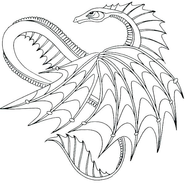Hard Dragon Coloring Pages For Adults Tips