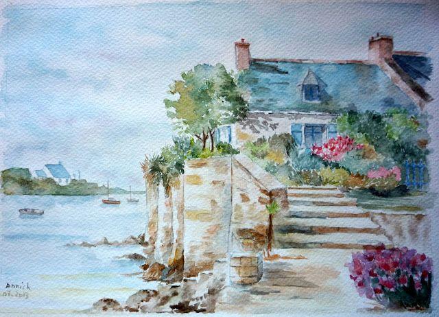 C R E A N N I C K Aquarelle Peinture Art
