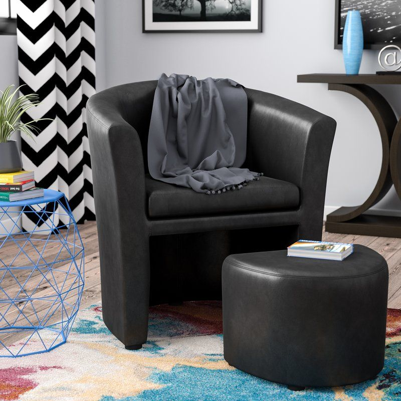 newest 3de59 9d01e Darvin Barrel Chair and Ottoman | For the Home in 2019 ...