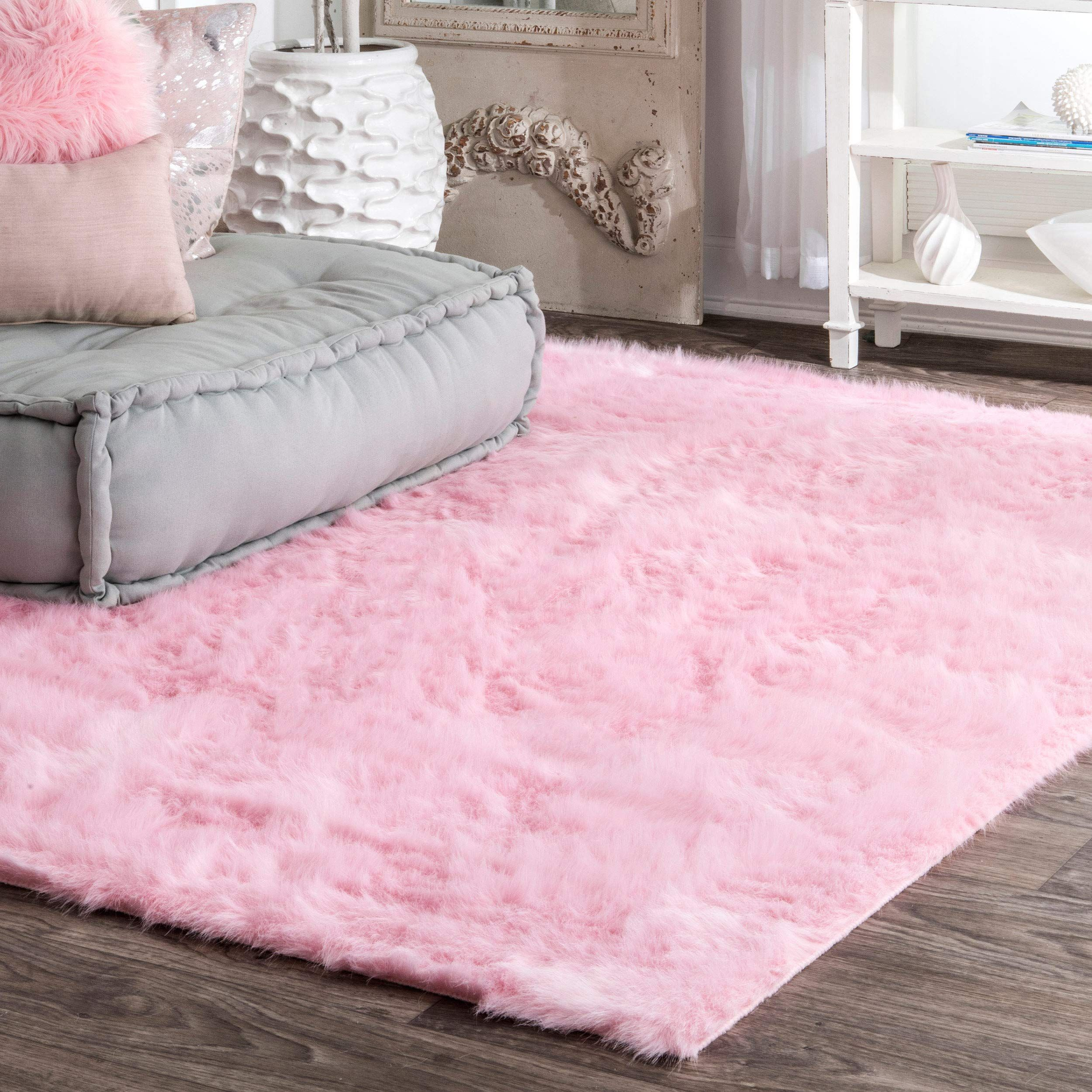 Nuloom Cloud Faux Sheepskin Soft Plush Shag Rug 3 X 5 Pink Lavorist Plush Carpet Pink Rug Bedroom Flooring #soft #plush #area #rugs #for #living #room