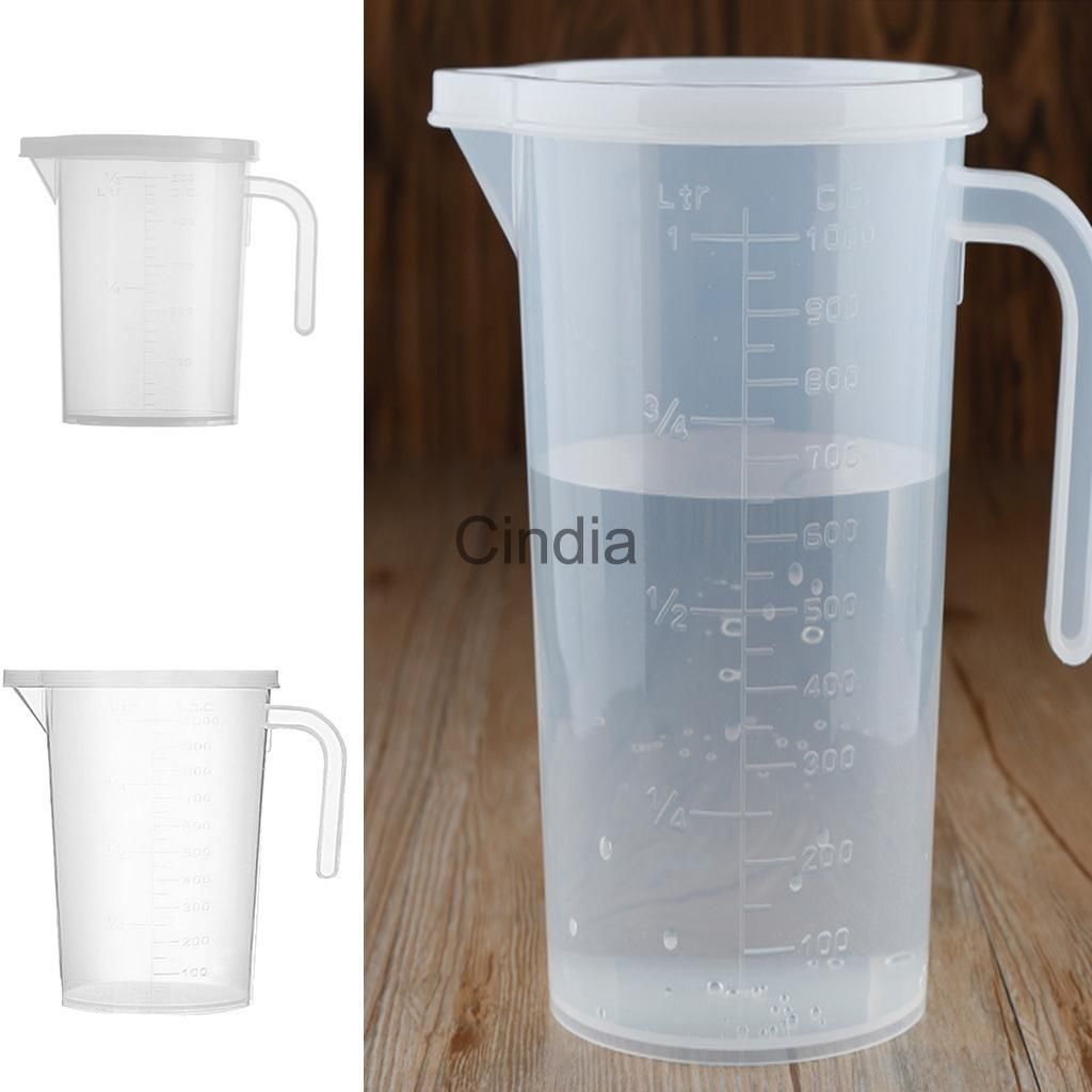2x Measuring Liquid Jug Clear Pp Cup Baking Cooking Kitchen Craft