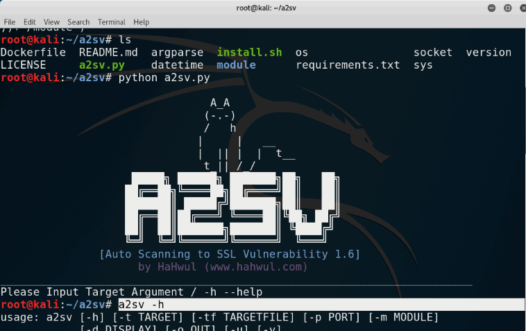 A2SV is a Python-based SSL Vulnerability focused tool that