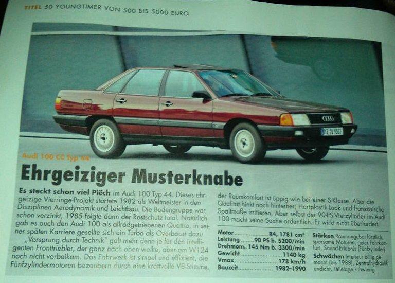 Audi 100 Im Youngtimer