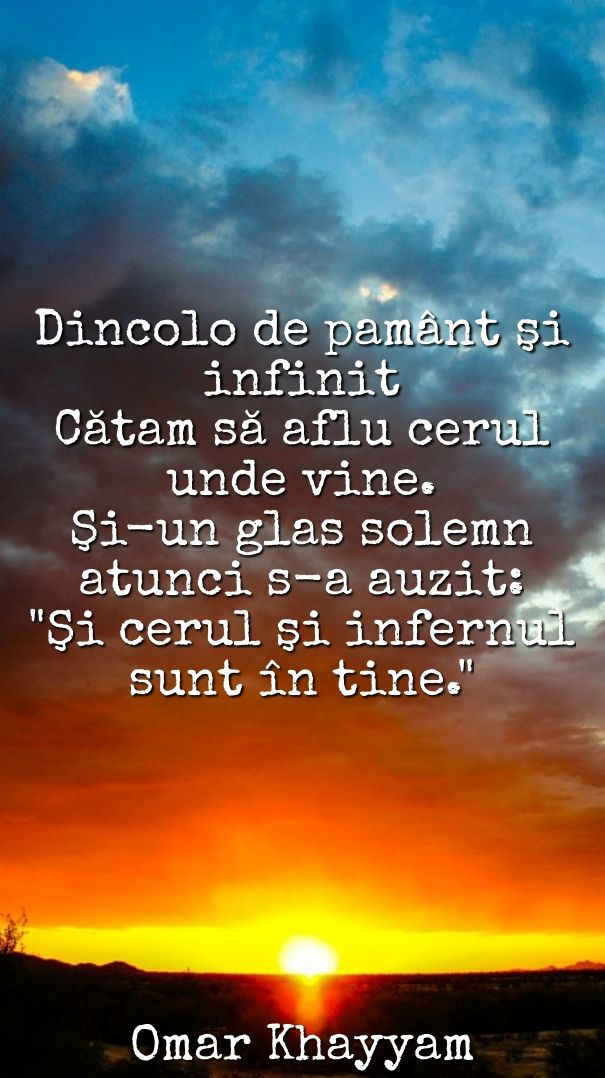 #citat #quote #heaven #hell #sunset #cer #infern #khayyam