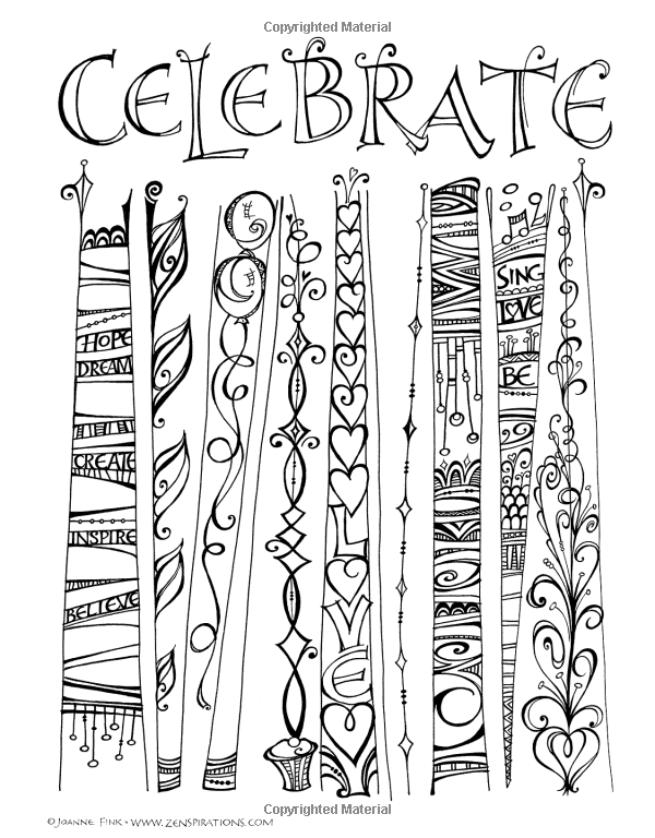 Another Page From My New ZenspirationsTM Coloring Book INSPIRATIONS Designs To Feed