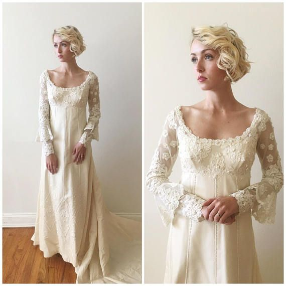 Vintage 1960s Priscilla Boston Silk Taffeta Wedding Gown with ...