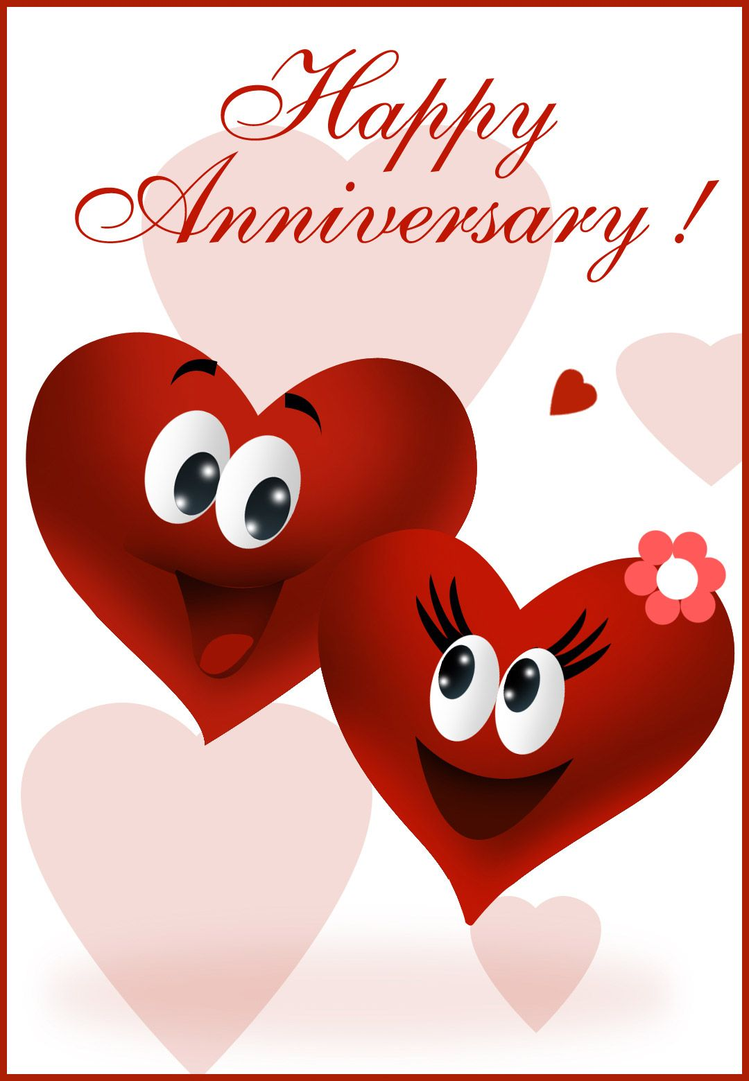 graphic relating to Printable Anniversary Cards named Absolutely free Printable Delighted Anniversary Greeting Card Anniversary