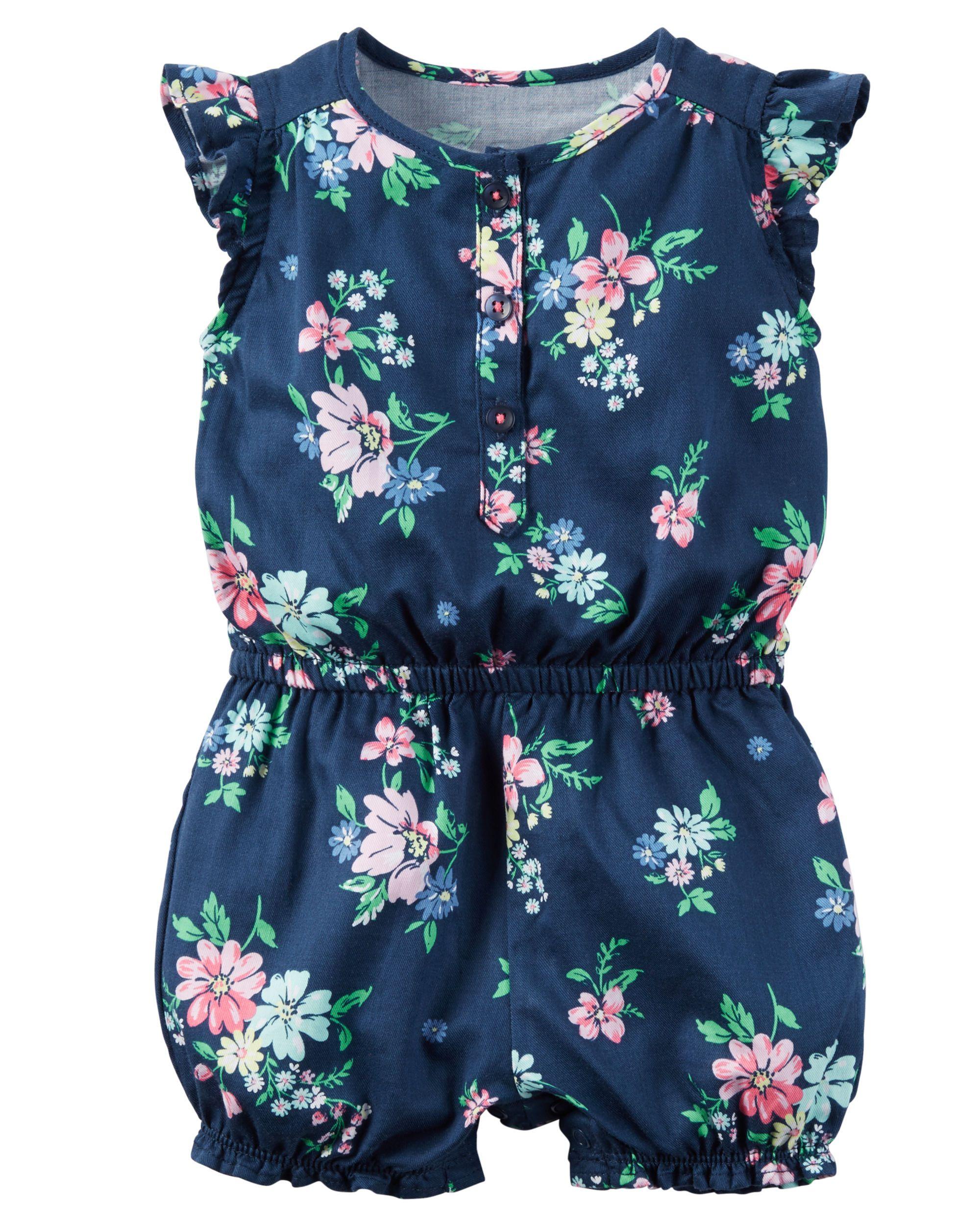 Baby Girl Floral Romper   Carters.com