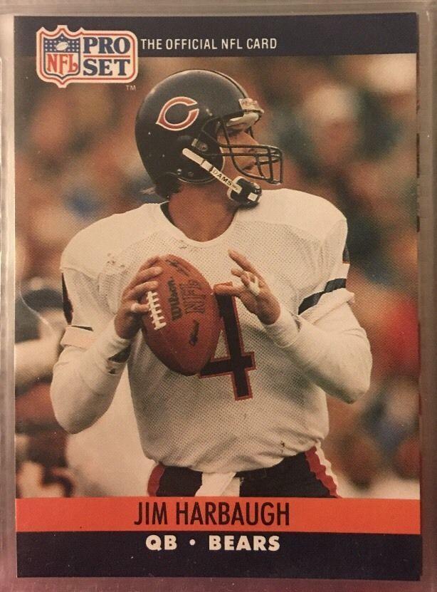 1990 Pro Set Jim Harbaugh 452 Chicago Bears Near Mint Combined s H | eBay