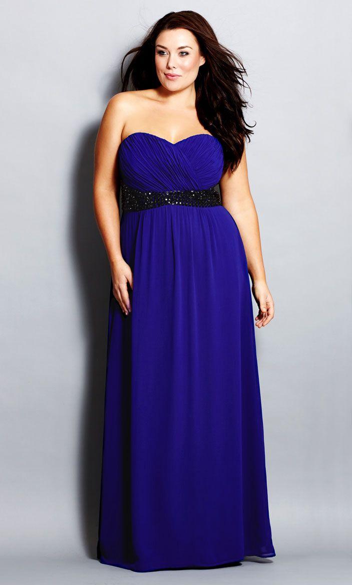 City Chic - BEJEWELLED BELLE COLOUR MAXI - Women\'s Plus Size Fashion ...