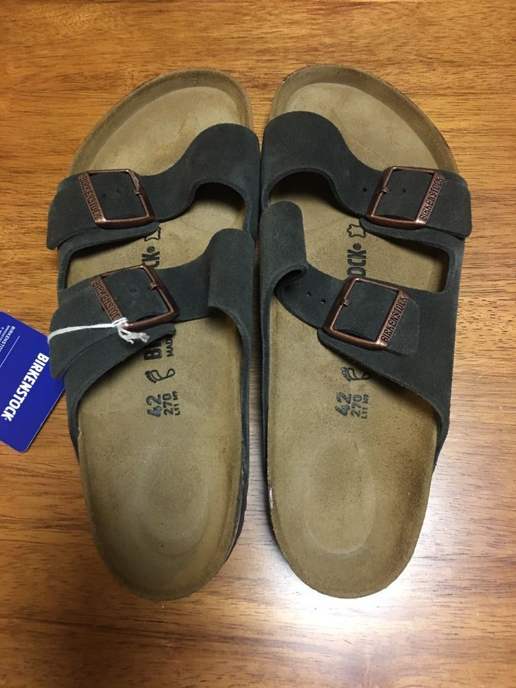 05e81c59a634 NIB Birkenstock Arizona BS Suede Mocha Made in Germany Slide Sandals Sz 42  US 11  fashion  clothing  shoes  accessories  mensshoes  sandals (ebay link)