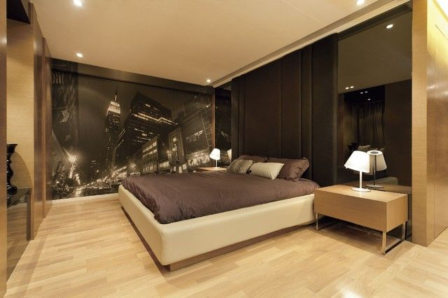 Mural Wallpaper Designs For The Stylish Bedroom City Light Mural Wallpaper Designs