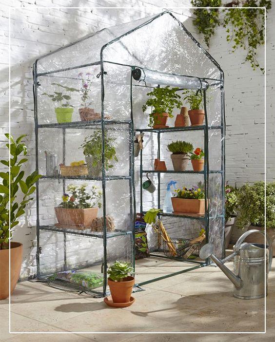 serre souple 6 tag res verve jardin am nagement ext rieur pinterest jardins serre. Black Bedroom Furniture Sets. Home Design Ideas