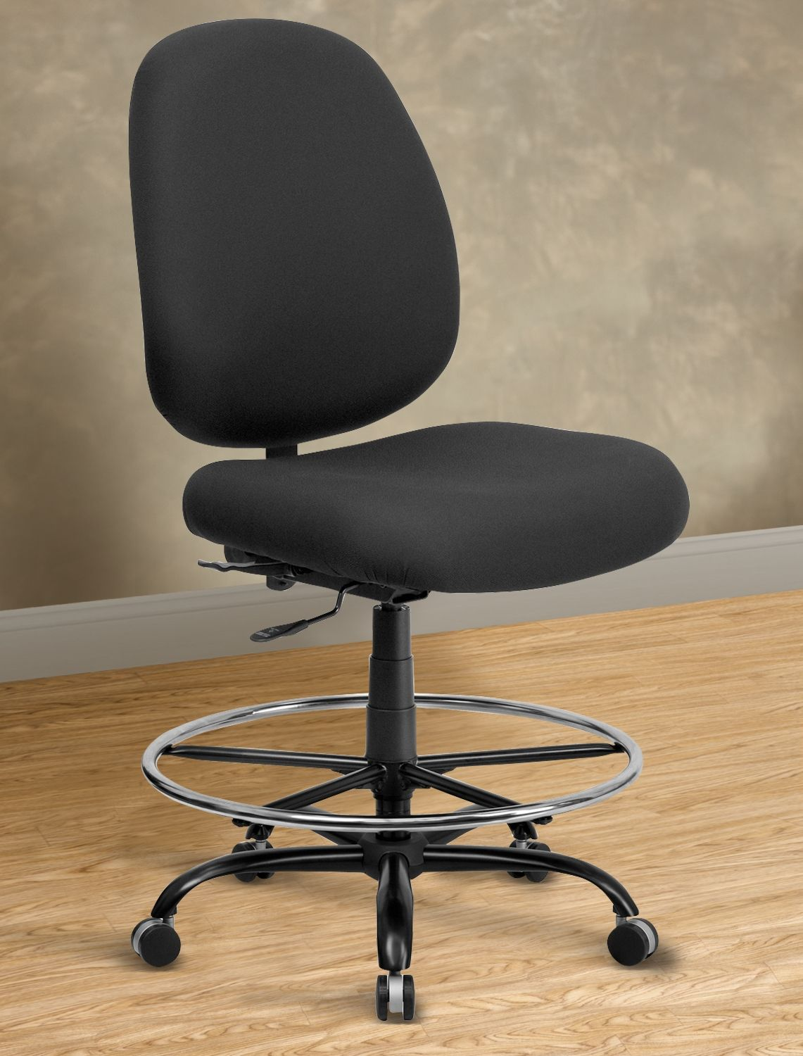 Ordinaire Hercules Extra Wide Fabric Drafting Chair U2013 Rounded Back