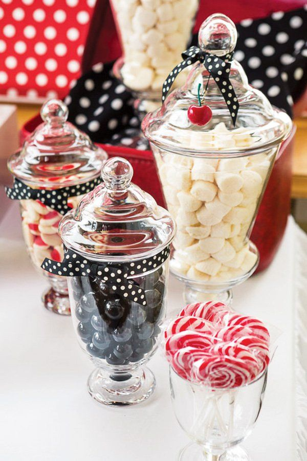 Red Black White Rockabilly Wedding Jars And Ideas