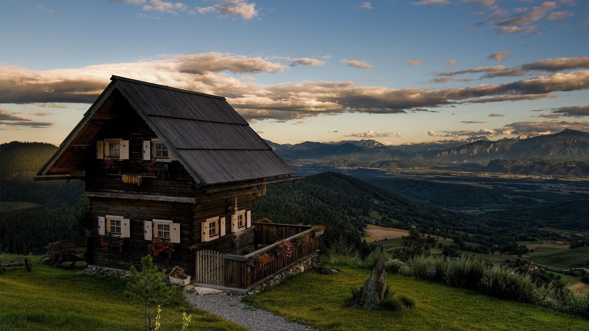 Lonely house on a mountain top Romantic cottage, Fantasy