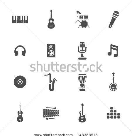 Vector Music Symbols Stock Vectors Vector Clip Art Shutterstock