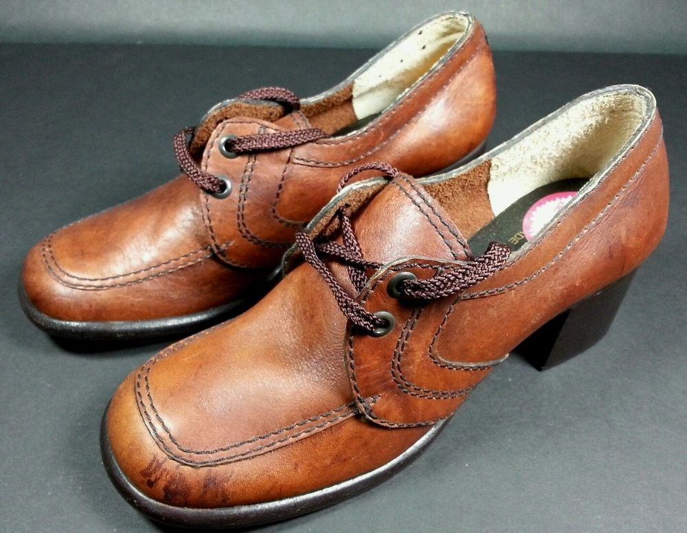 NWOT Vintage Women's Cobbies Rust Brown Stacked Heel Style Promo Shoes - Size 5 #Cobbies #PumpsClassics #Casual