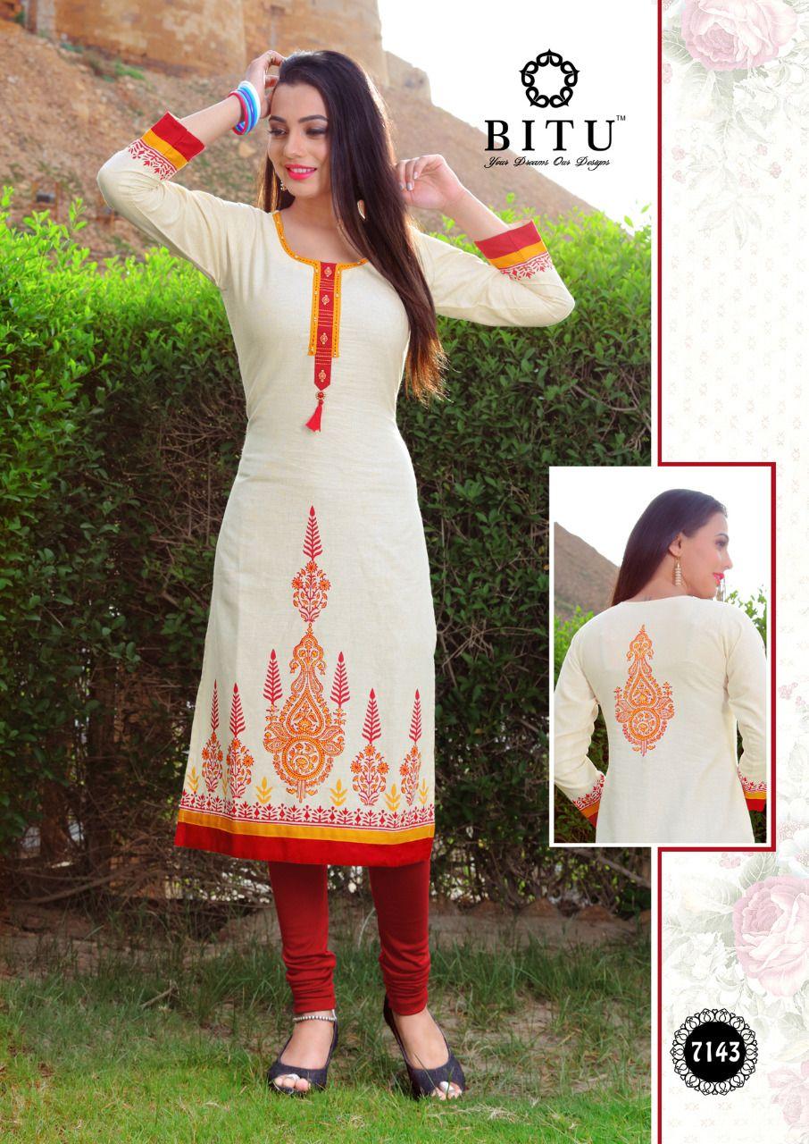 3716390c3  Bitu Chogada Cotton printed Casual wear  kurtis wholesaler. Bitu  manufacture  2019 latest