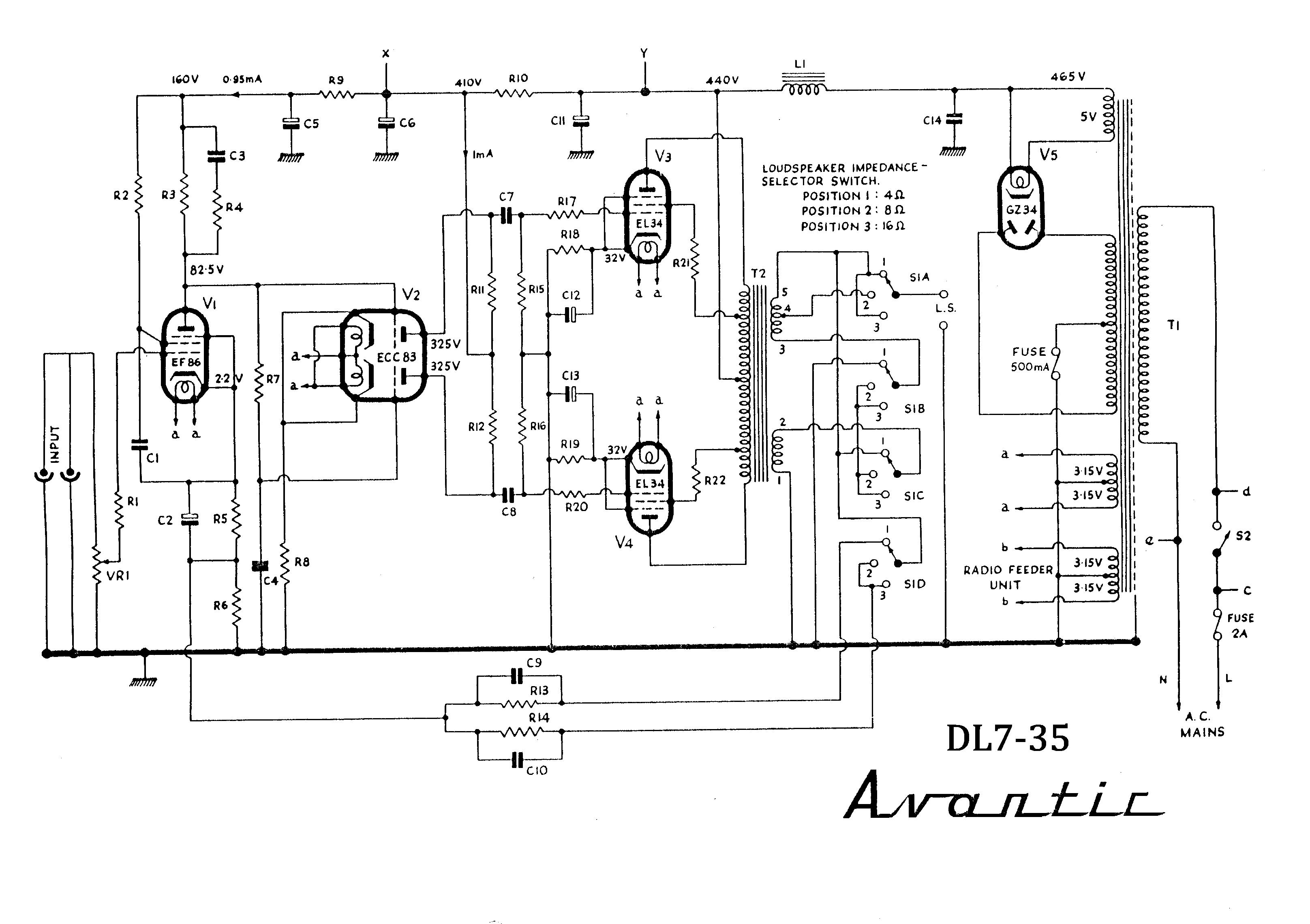 Avantic Dl7 35 El34 Pp Mullard Circuit