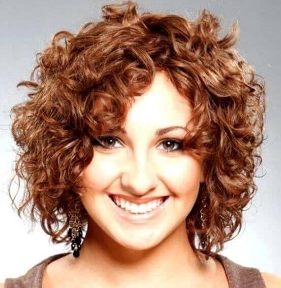 Peinado Para Cara Redonda Rizado Corto Peinados Para Caras