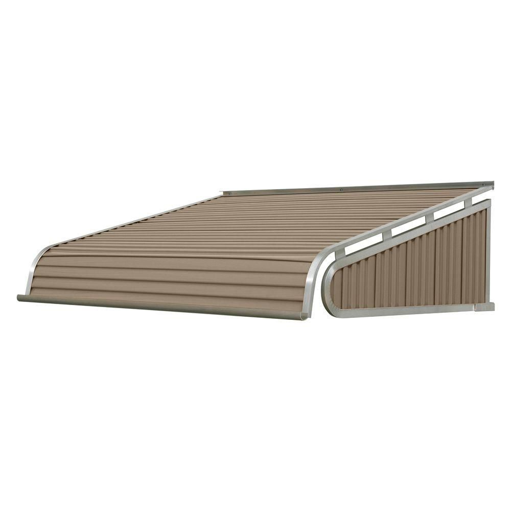 Nuimage Awnings 5 5 Ft 1500 Series Door Canopy Aluminum Awning 12 In H X 24 In D In Sandalwood Brown Tan Aluminum Awnings Door Canopy Aluminium Doors