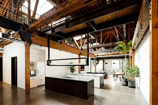 Warehouse Turned Into A Loft Office Interior Square Office