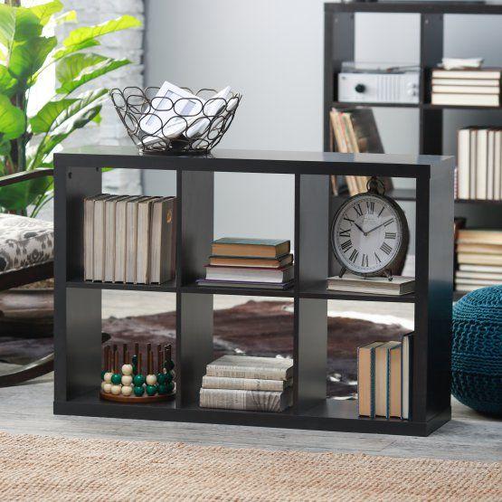 Hudson 6-Cube Bookcase - Espresso