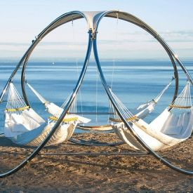 This hammocks are great solution for spending quiet, relaxing time in different locations as a family of three or together with two friends.