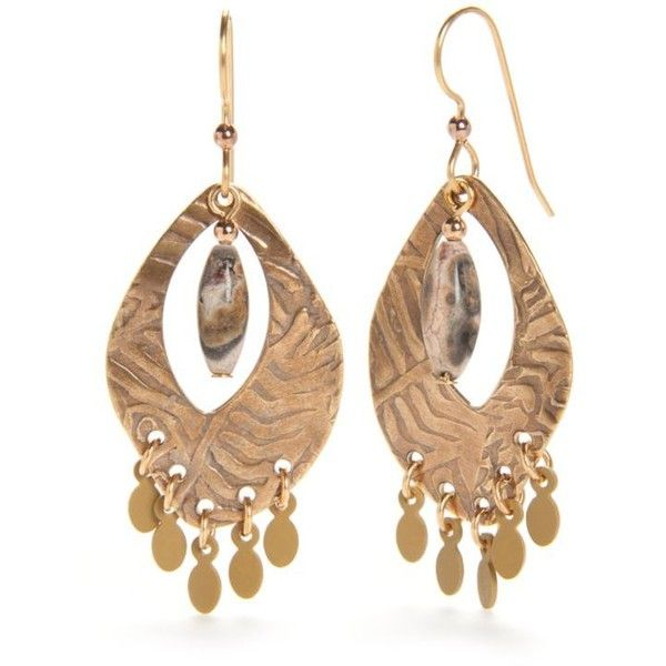 Silver Forest Gold Tone Artisan Alley Chandelier Earrings 15 Liked On