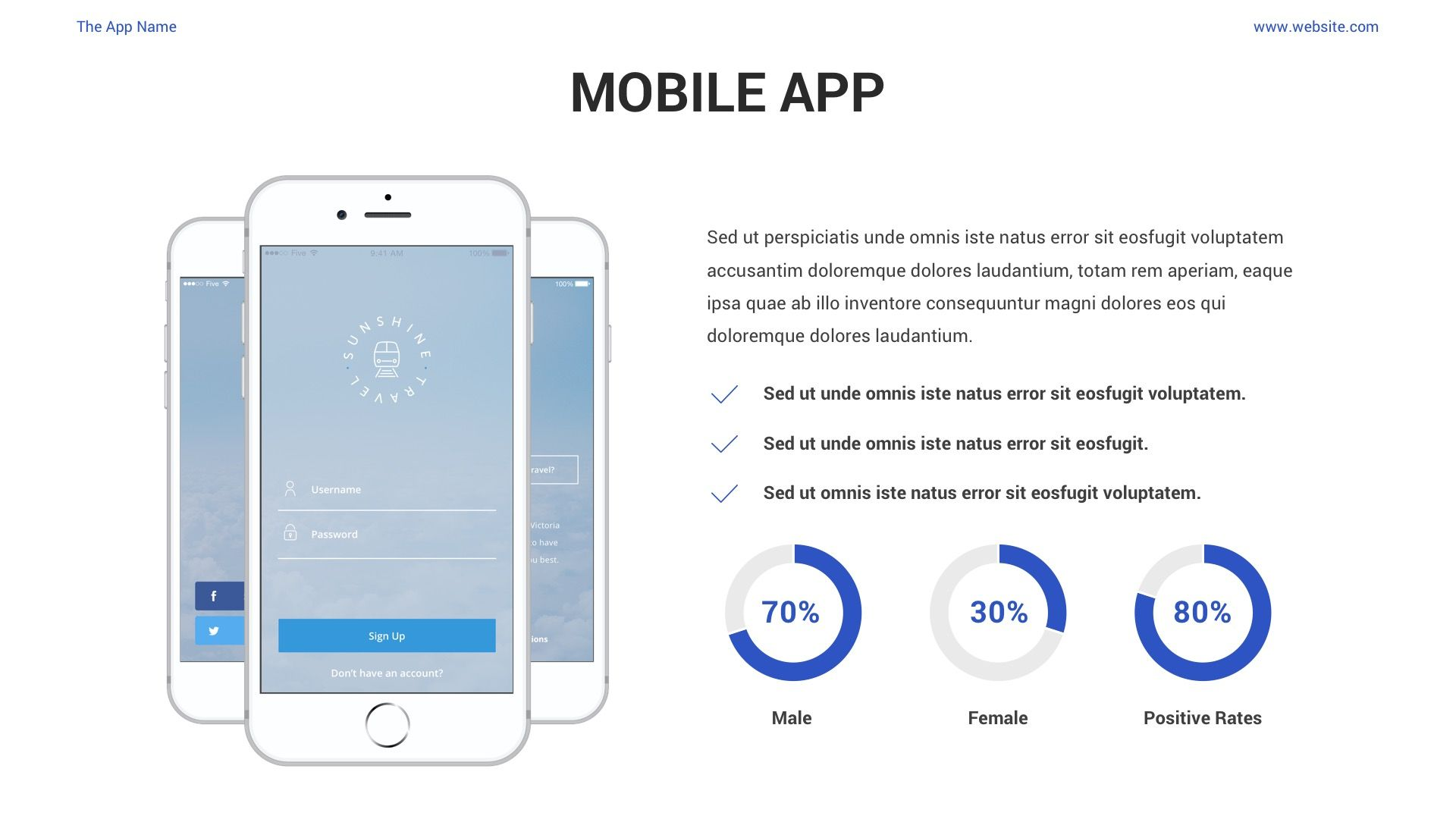 Mobile App Showcase PPT Pitch Deck in 2020 Mobile app