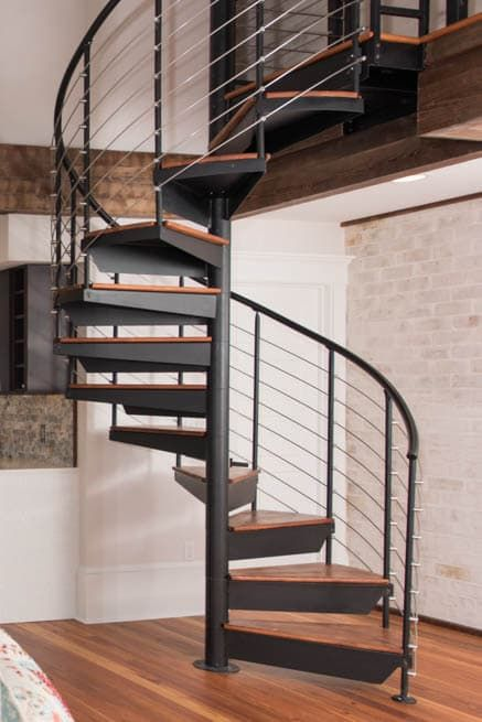 Best The Bradley Custom Railing Spiral Stairs Spiral Stairs 400 x 300