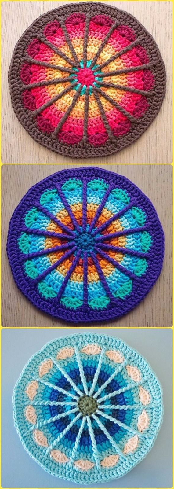 Crochet Spoke Mandala Potholder Free Pattern - Crochet Pot Holder ...