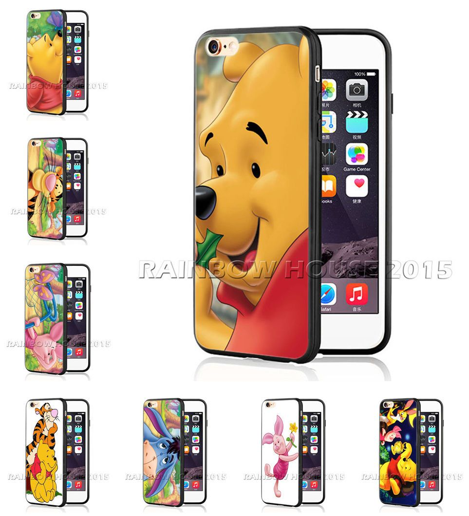 reputable site cc065 f27c8 Winnie the Pooh Phone Case Cover Piglet Tiger For iPhone 7 6 6s Plus ...